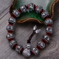 Wholesale Women and Men Sterling Silver Wrap Sandalwood Bead Strand Bracelet Couples Jewelry(B20180102) from china suppliers