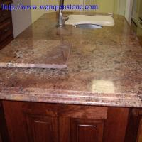 Quality Yellow Granite kitchen countertop for sale