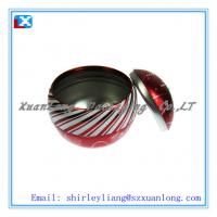 Wholesale beautiful with colorful printng ball shape tin box from china suppliers