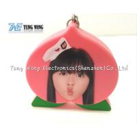 Wholesale Pink Peach Shaped Music Keychain Custom Talking Keychain With Sound from china suppliers