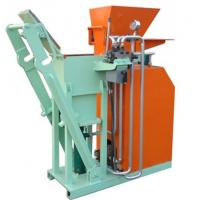China Hydraulic Interlocking Small Clay Brick Making Machine , Automatic Brick Making Machine 1500(L)×600(W)×1400(H)mm on sale