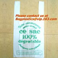 Wholesale 100% Biodegradable and Compostable, T-shirt Bags, EN13432 Certificate, green bags, bio bag from china suppliers
