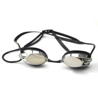 Wholesale Professional Black Racing Swimming Goggles With Back Locked Strap For Adult from china suppliers