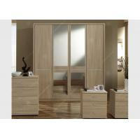 Wholesale Oak Wood Veneer Hotel Room Wardrobe Four Doors Large Size High Grade With Mirrors from china suppliers