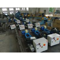 China 2T Capacity Bolt Adjustment Pipe Welding Rollers with Polyurethane Rollers Gear Reducer for sale