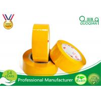 Quality Yellowish Colored Duct Tape Waterproof Masking Tape For Carton Sealing Hot Melt for sale