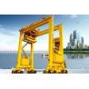 Outdoor Rubber Tired Container Gantry Crane , Double Girder Motorized Gantry Crane for sale