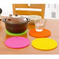 China Multi - Function Heat Round Table Mats Food Grade Silicone Waterproof  7 Inch on sale