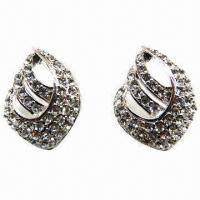 Wholesale Exquisite Rhinestone Stud Earrings from china suppliers