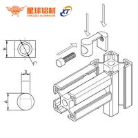 China anodized aluminum profile bracket for 6mm, 8mm, 10mm slot profile & workshop workbenc aluminum I bracket for sale