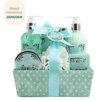 China Adult Body Care Bath Gift Set / Luxury Body Care Gift Sets Weaving Basket for sale
