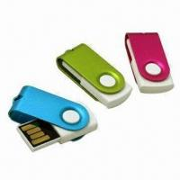 Wholesale USB Flash Drives with Clip, 512MB to 32GB Memory Capacity, Supports Plug-and-play Function from china suppliers