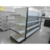 Wholesale Large Scale Supermarket Steel Racks Buckle Backing Heavy Duty Loading White Color from china suppliers