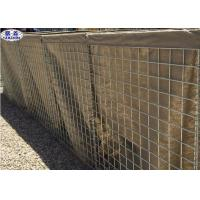 China Welded Gabion Box Sand Filled Barriers High Tensile Anti - Impact Capability for sale