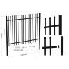 Tubular Garrison Fence / Australia Security Commerical Garrison Fence Panel / Black Garrison Fence for sale