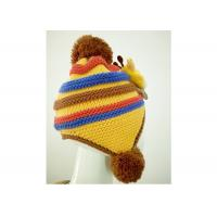 Quality Unisex Acrylic Knit Sweater Hat With Dual Balls For Babies And Toddlers for sale