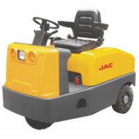 China Airport Electric Tow Tractor 4 Wheel Platform High Range Steering Design for sale