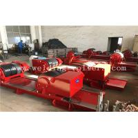 Wholesale Red Bolt Adjustable Pipe Stands , Heavy Duty Welding Roller Beds With PU Wheel from china suppliers