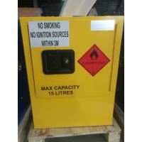 China Yellow Dangerous Goods Cabinets For Liquid , Industry Paint Safety Storage Cabinets for sale