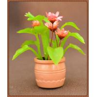 Wholesale model potted plants,model doll house decration,decoration flower,artificial pot,G scale potted from china suppliers