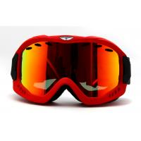 Quality Red CP Lens Adult Anti Fog Snow Goggles with Helmet Compatibility and Custom for sale