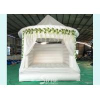 Wholesale 5x4 inflatable wedding white bouncy castle with flower decoration for wedding parties or events from china suppliers