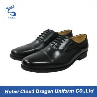 China Classic dress security work shoes / autumn black security shoes Removable insole on sale