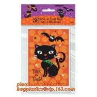 China gravure printing halloween party bag, cute design food grade plastic cookie packing,halloween shrink cello treat bags fo on sale