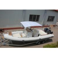 China 28 Ft 850cm Cm PVC Inflatable Boat , Rib Inflatable Boat With Big Sunbathe Panel on sale