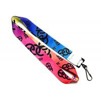 Wholesale CMYK Color Mixed Silk Screen Lanyards , Full Color Lanyards With Nice Looking Pattern from china suppliers