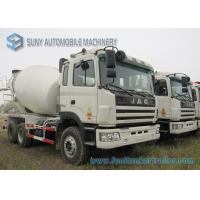 China 6 x 4 JAC 9 Cbm Concrete Mixer Truck 336 Hp Engine And ZF Reducer White on sale