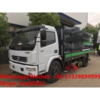 China 2019s HOT SALE! new best price Dongfeng 120hp diesel road washing sweeper truck street washing and sweeping vehicle for sale
