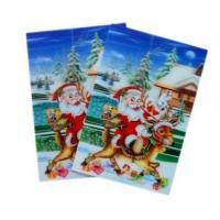 Wholesale Merry Christmas plastic 3d lenticular lens printing sticker flip animation Wall Sticker from china suppliers