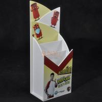 Quality 2 Tiers White PMMA Acrylic Brochure Holders Stand For Document Display for sale