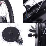 26'' 500 Watt Hub Motor Wheel Ebike Front Or Rear Electric Bike Kit Led Or Lcd