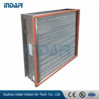 Wholesale H13 Heat-Resistant Clean Room HEPA Filters , HEPA Air Filter 450Pa Final Pressure Drop from china suppliers