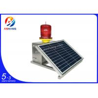 Wholesale AH-MS/S Medium intensity 2000cd solar power red led flashing beacon lights from china suppliers