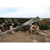 Easy Installation Temporary Steel Structure Bailey Bridge Military Application for sale