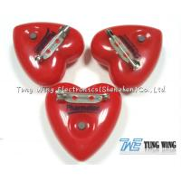 Quality Heart Shaped Flashing LED Badges For Festival gifts or Party Flashing Items for sale