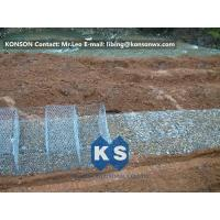Wholesale Stainless Steel Galvanized Hexagonal Wire Mesh Gabion Boxes , 0.5mm Thick PVC Coated from china suppliers