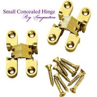 cupboard small concealed hinge SOSS Invisible Hinge Jewelry Box Hinge for sale