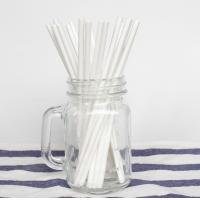 Wholesale OEM And ODM Plain Solid White Paper Straws 100PCS Environmental Protection from china suppliers
