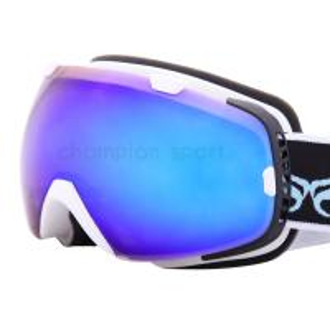 Quality Large Matt White Ladies Ski Glasses / Girls Snowboarding Goggles Anti UV for sale