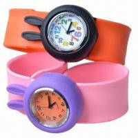 Wholesale Silicone Slap Watch w/ Rabbit Design, Customized Logos/Designs are Welcome, Good for Children Gifts from china suppliers