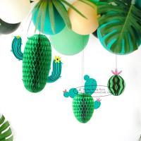 China New Cactus Watermelons Shaped Paper Honeycomb Balls Tissue Paper Decorations for sale