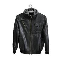 Wholesale Men Hooded PU Leather Jackets, Men Korean Fashion Leather Jacket from china suppliers