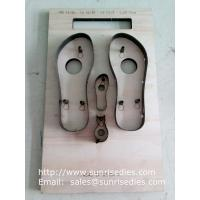Quality Slipper sole steel cutting dies, slipper sole plywood steel rule dies factory for sale
