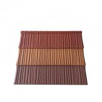 Wholesale Construction Building Roofing Material Wood Type Stone Coated Metal Roof Tiles from china suppliers