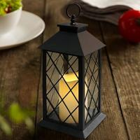 Wholesale Vintage Indoor Black Lantern Flameless LED Candles With Plastic Wavy And Drip from china suppliers