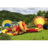 Wholesale Commercial Trumpet Fiberglass Water Slides For Adults / Water Park Playground from china suppliers